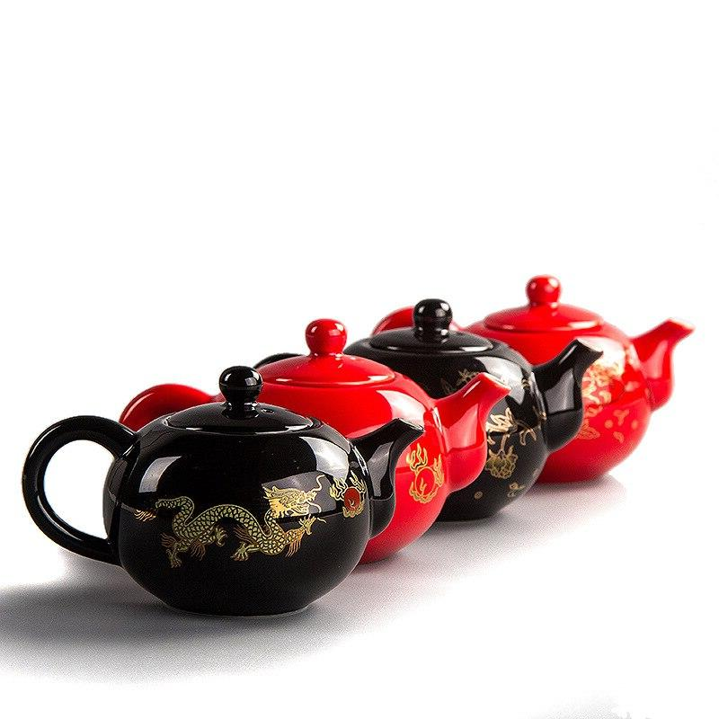 Black <font><b>Tea</b></font> pot Chinese Dragon Teapot easy teapot <font><b>Ceramic</b></font> Kung Teaware