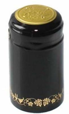 black gold grapes pvc shrink