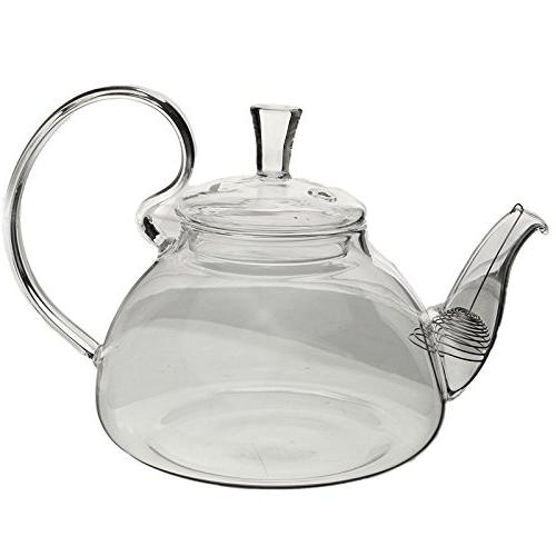 borosilicate glass teapot cambered hyaline