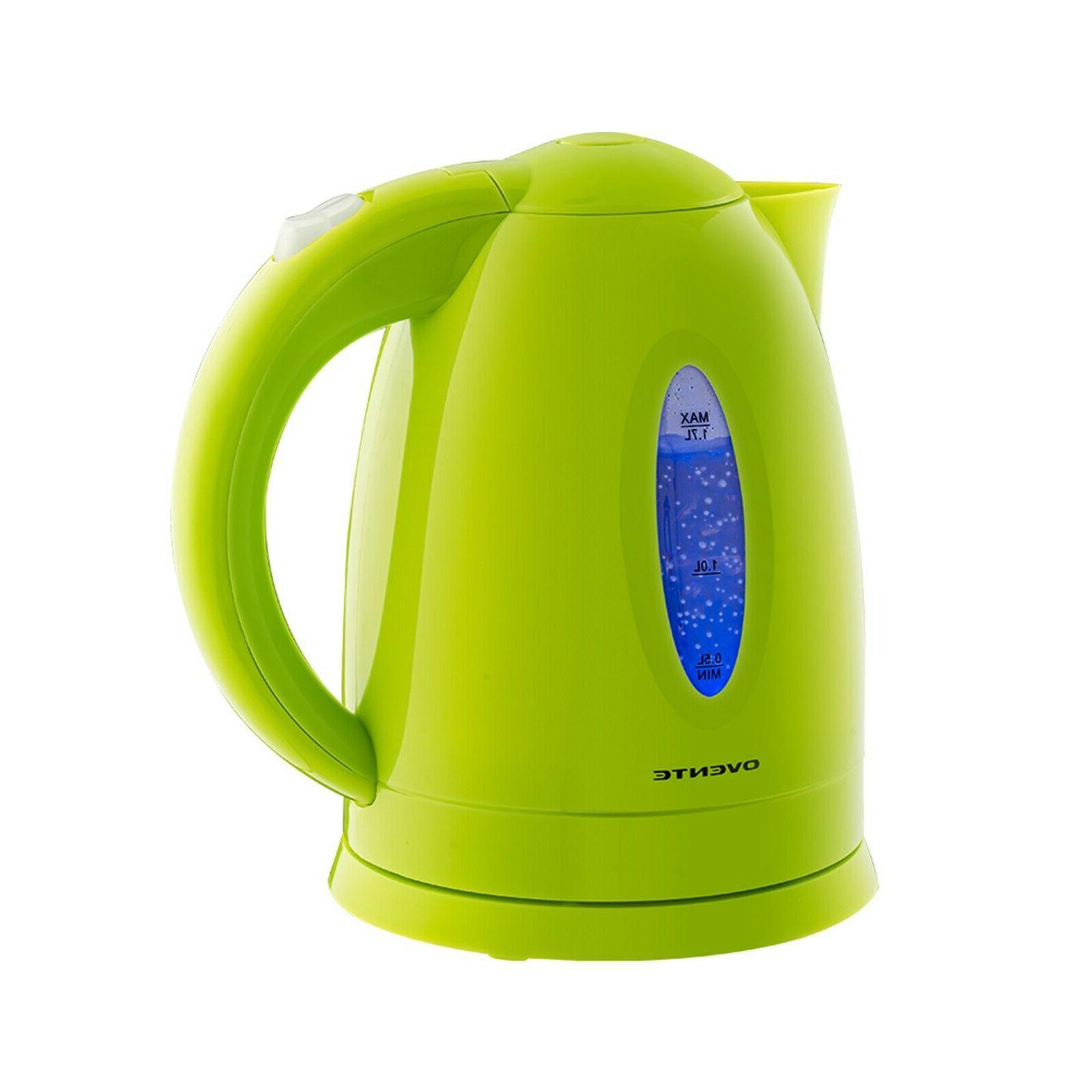 bpa cordless electric kettle green