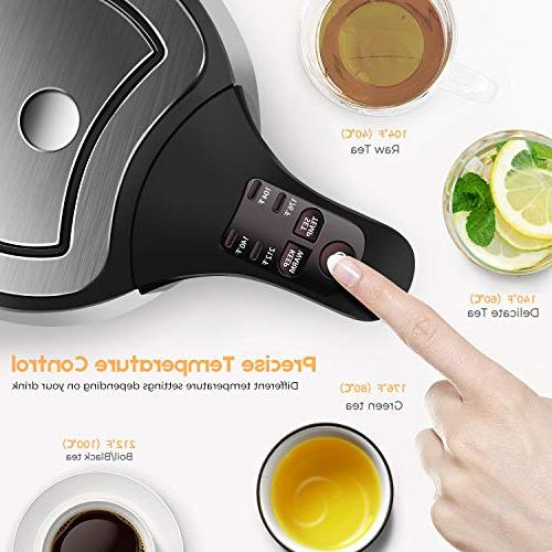 CUSIMAX Electric Kettle,BPA-free Tea Water Kettle Stainless with Boil-Dry Protection
