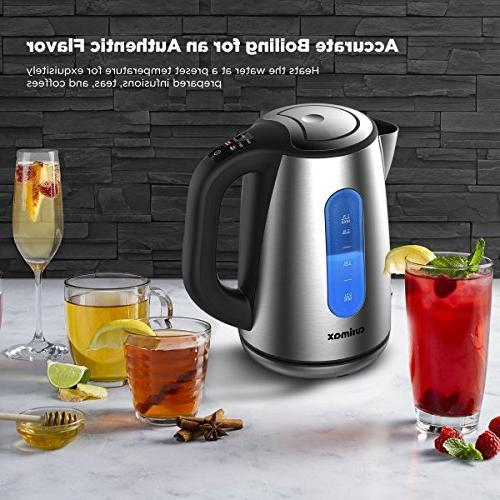 CUSIMAX Kettle,BPA-free 1.7L Tea Control,1500W Water with Boil-Dry