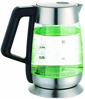 Ovente Glass Electric Kettle, Stainless