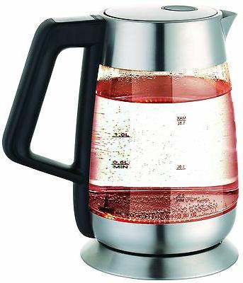Ovente KG66S Electric Kettle, Liter, Stainless Steel