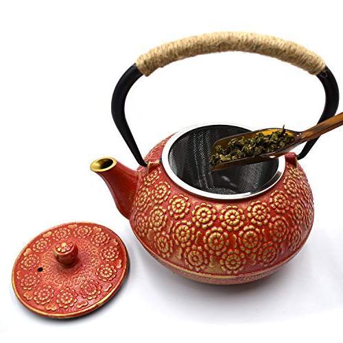 JINGYAT Cast Iron Japanese Tetsubin Tea Kettle Durable Tea strainer a