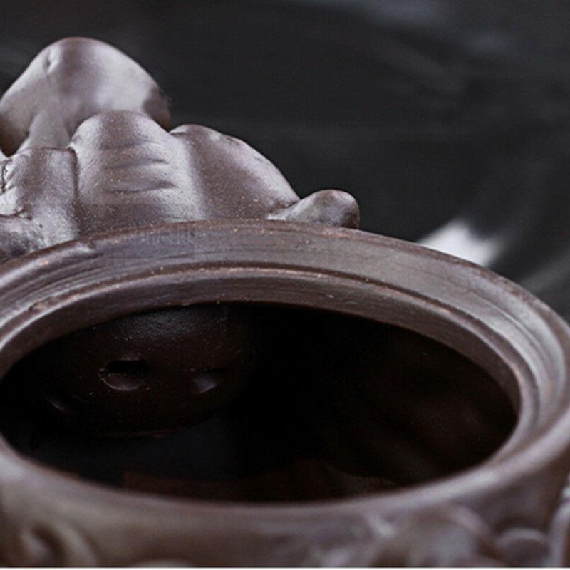 Ceramic Dragon tea purple