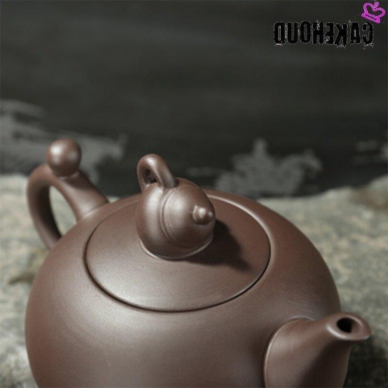CAKEHOUD Traditional Handmade Purple Filter Teapot Kung <font><b>Tea</b></font> Set <font><b>Ceramic</b></font>