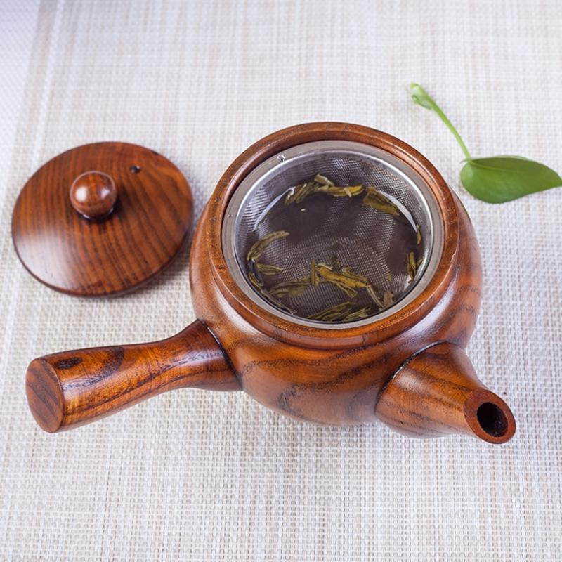 Chinese Style Traditional Wooden Teapot Portable Coffee Pot <font><b>Kettle</b></font>
