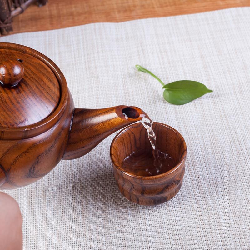 Wooden Teapot Handle Portable <font><b>Tea</b></font> Maker Pot <font><b>Kettle</b></font>