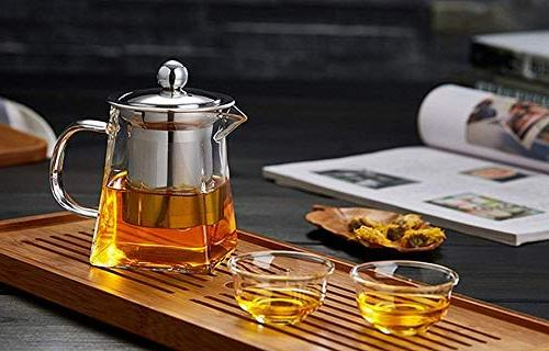Clear Tea with Steel Infuser and Teapots Kettles Tea Strainer Tea Pots,350 ml