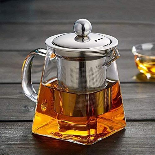 clear glass tea pot