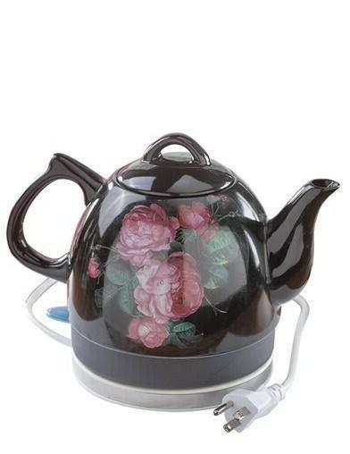 Victorian Trading Roses Electric Hot Water Tea Teapot
