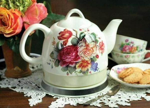 Victorian Co Roses Electric Tea