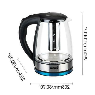 Electric Kettle Glass Water Boiler Fast Tea Kettle Stainless