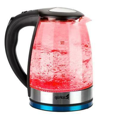 Electric Kettle Glass Boiler Fast Boiling Kettle Stainless LED