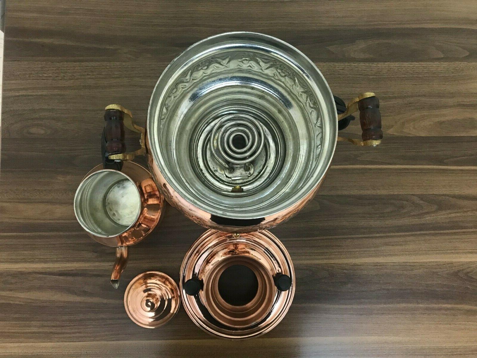Copper Handicraft Electric Samovar Tea 4L Samovar