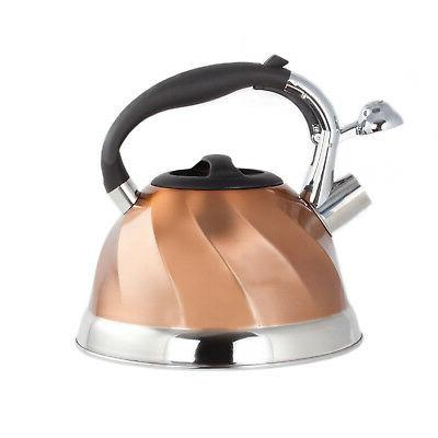 Copper Stainless Steel Tea Maker Pot 3 2.8 L.