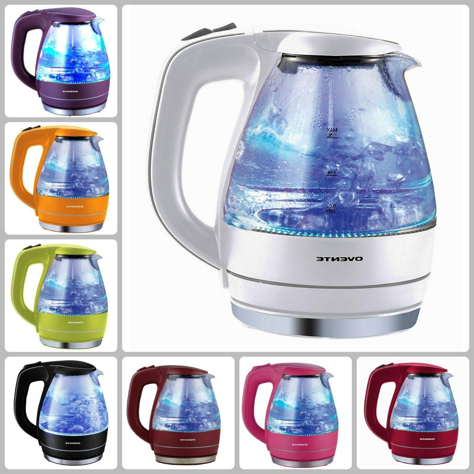 Cordless Electric Glass Kettle Hot Water Boiler Tea Pot 1.5