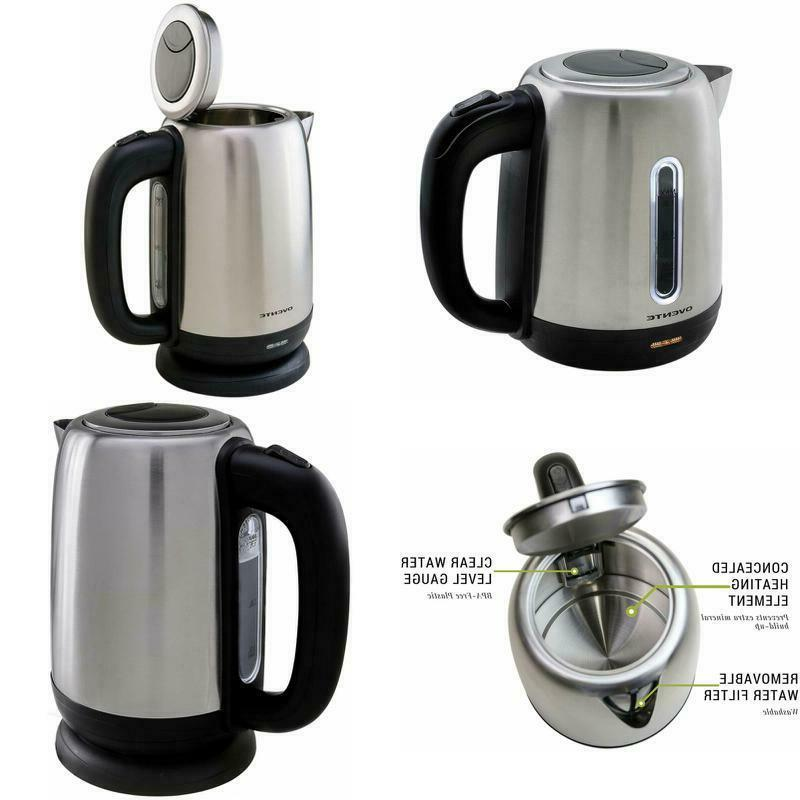 Ovente Cordless Kettle 1.7L 1100W Tea Hot Water Cuisinart