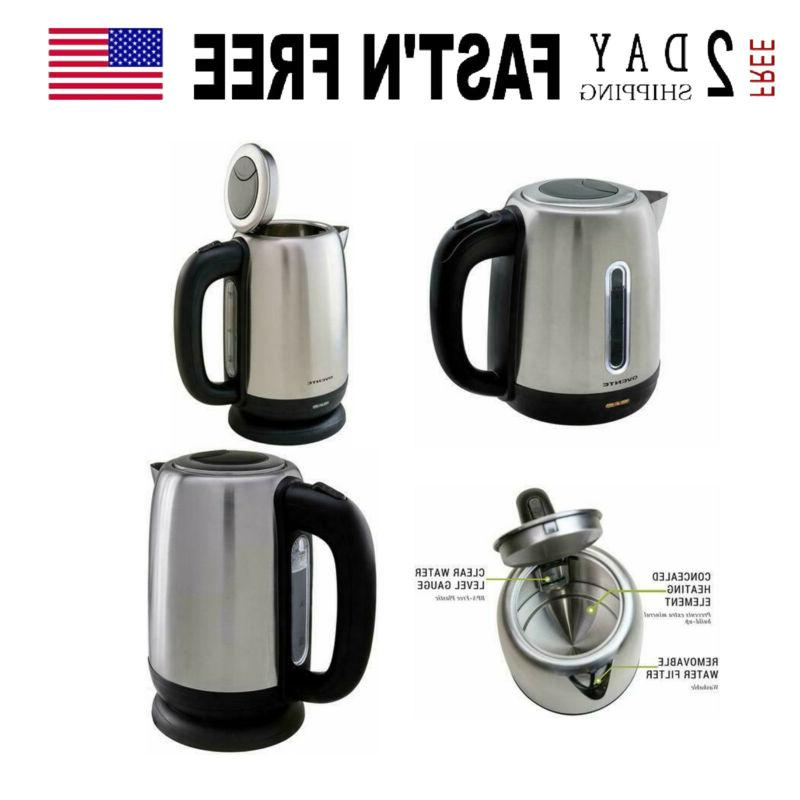 cordless electric kettle 1 7l 1100w tea