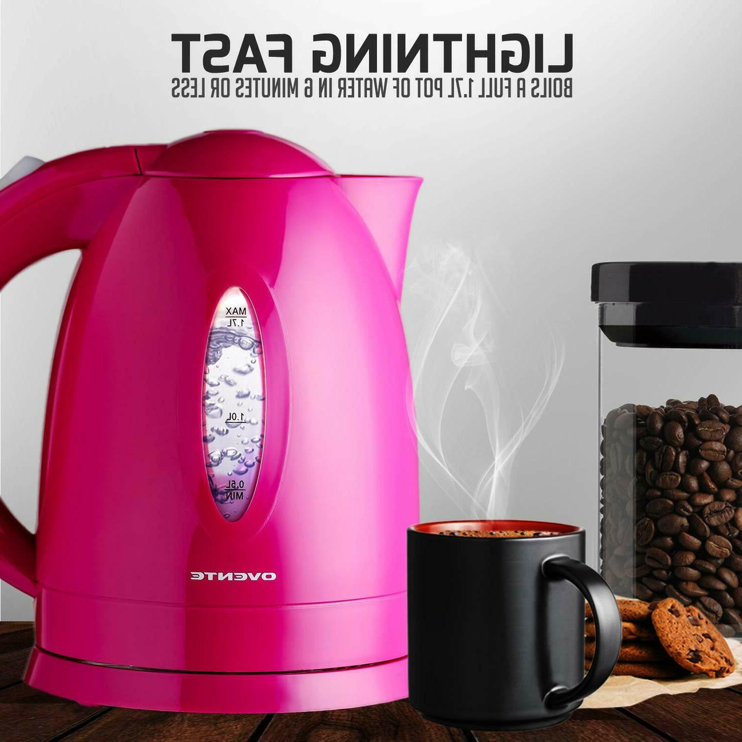 cordless electric tea coffee kettle hot water