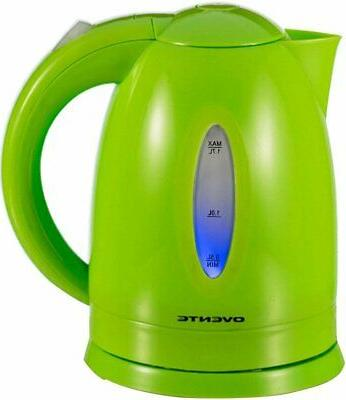 Ovente 1.7 Liter BPA Free Cordless Electric Kettle Green KP7