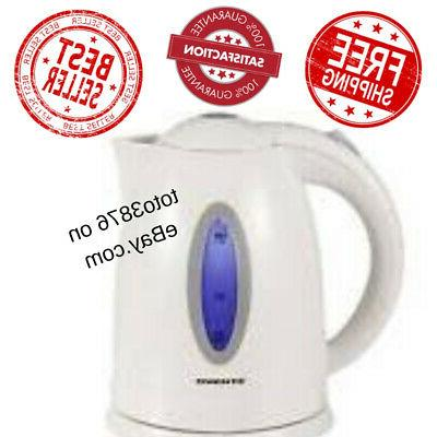 cordless electric tea kettle stainless steel 120v