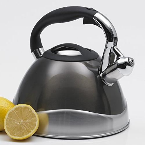 Creative Whistling Tea 3.1-Quart, Metallic Smoke
