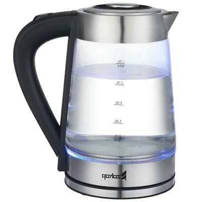 ZOKOP Durable 1500W 2.5L Electric Glass Hot Water Kettle Tea