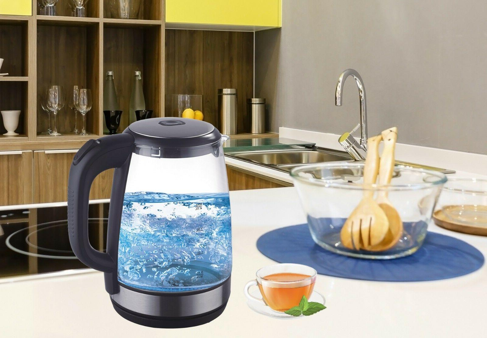 Electric Glass Boiler Fast Boiling Tea Kettle LED