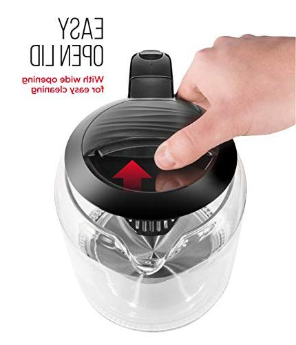 Chefman Electric Glass with Touch Operation 360° Swivel Base, BPA Shut-Off, 1.7 Liters