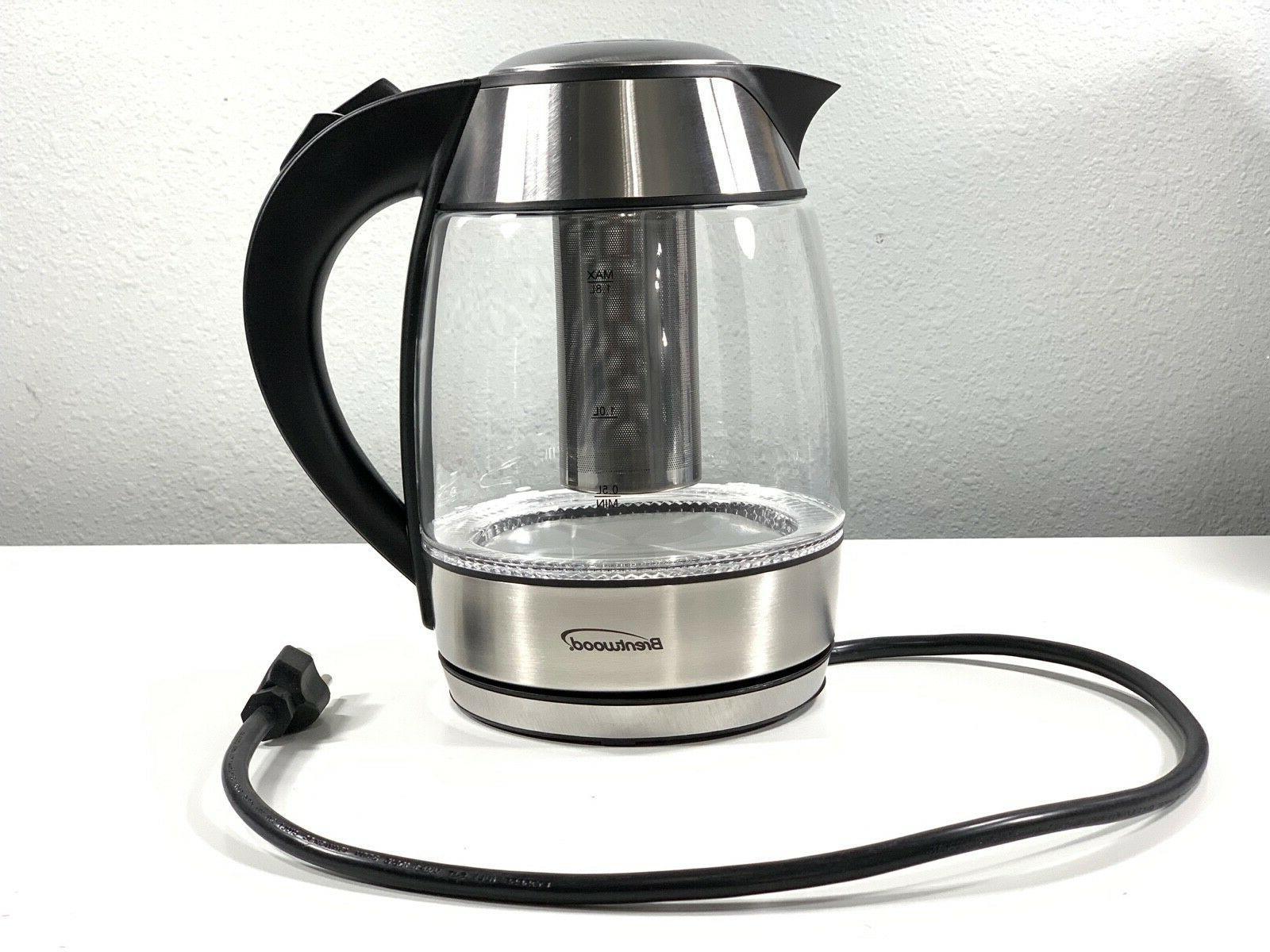 Brentwood Electric W/Tea Black 1.8L/60oz Cordless
