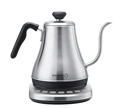Electric Kettle Perfect Over Coffee and | Steel Preset with Chemex, Aeropress