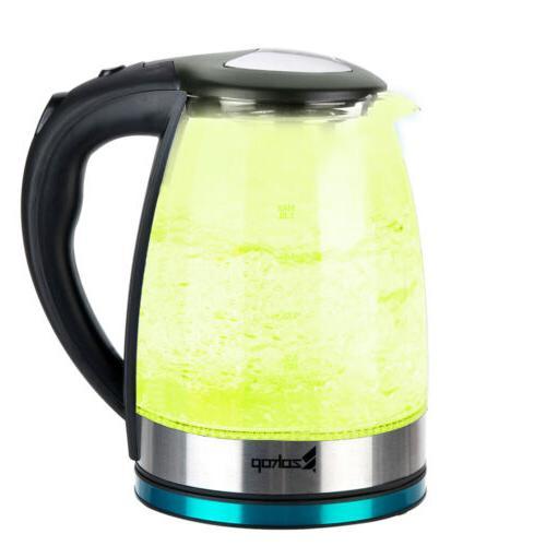 1500W 1.8L Tea Colourful Light Glass