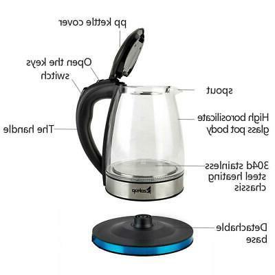 1500W 1.8L Tea Kettle Colourful LED Light