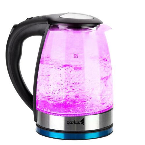 1500W 1.8L Tea LED Light Glass Fast Boiling