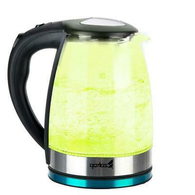 1500W Tea Kettle Light Glass Fast Boiling
