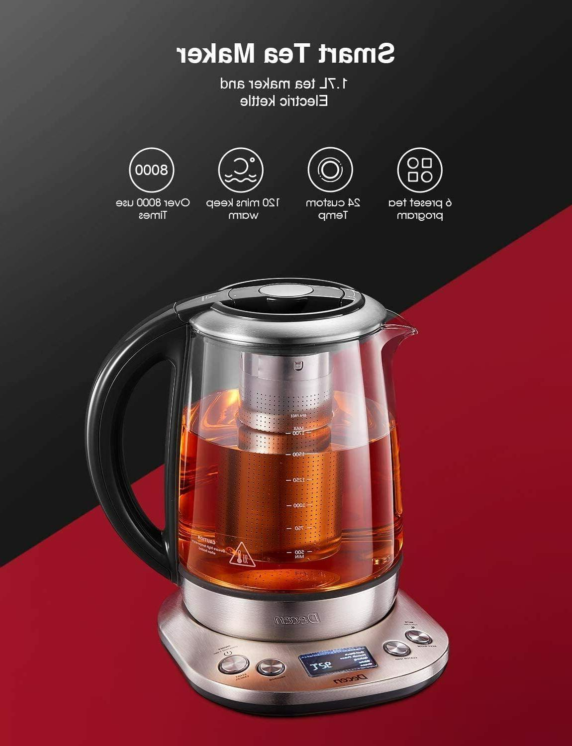 Electric Kettle Glass Tea Maker KT600