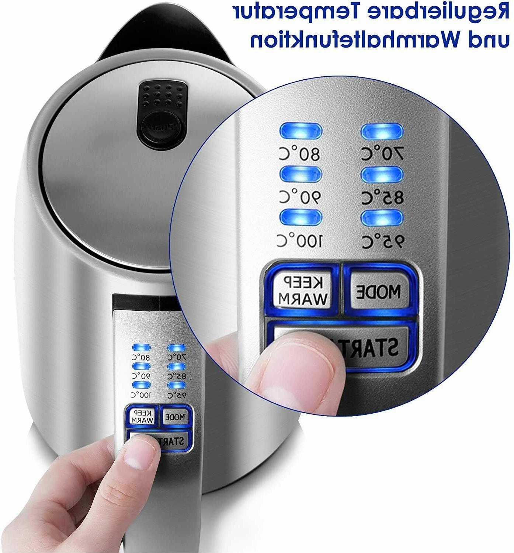 BESTEK 1.7L Stainless Steel Water Adjustable