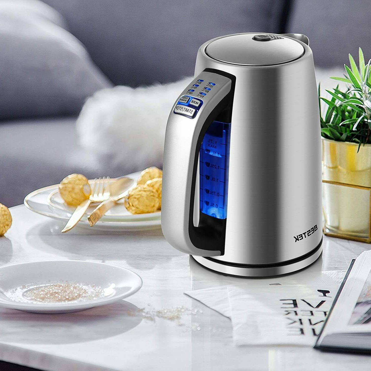 electric kettle 1 7l stainless steel water