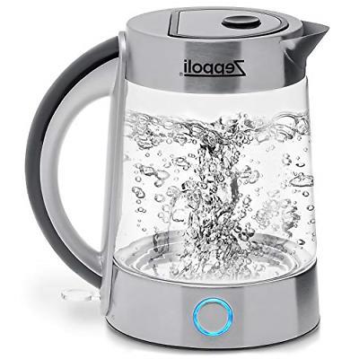 Zeppoli Electric Kettle BPA Free - Fast Boiling Glass Tea Ke