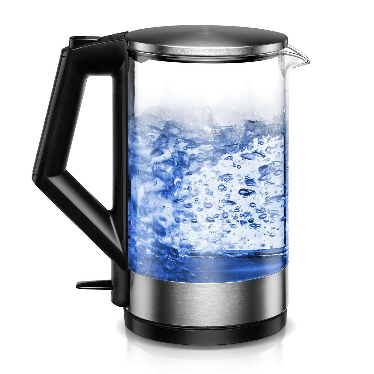 electric kettle bpa free glass tea kettle