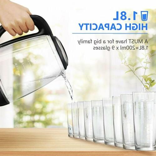 1.8L Electric Coffee Tea Hot Water Boiler Warm Fast Boiling