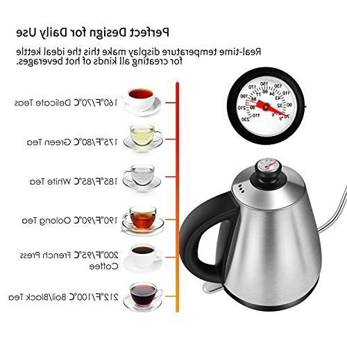 Electric Teakettle for Coffee Thermometer, Strix Controller,