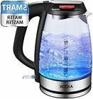 Aicok Electric Kettle Speedboil 1500W BPA-Free Glass Tea Ket