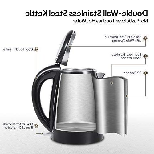 COSORI Qt Stainless Hot Boiler Heater Tea Pot Auto and FDA/ETL/CETL Year Warranty