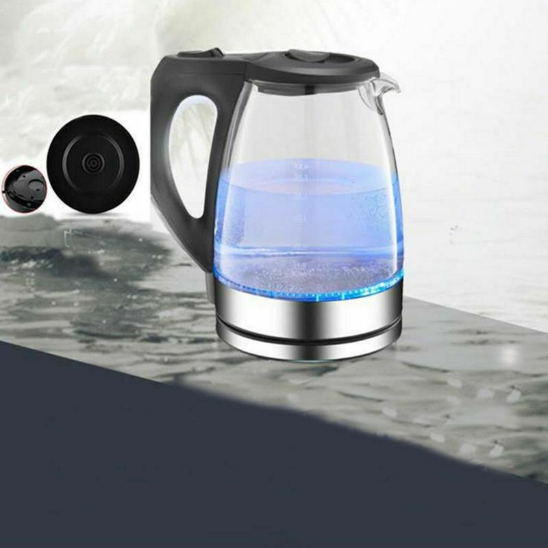 Electric Glass Kettle Pot Hot Fast Light