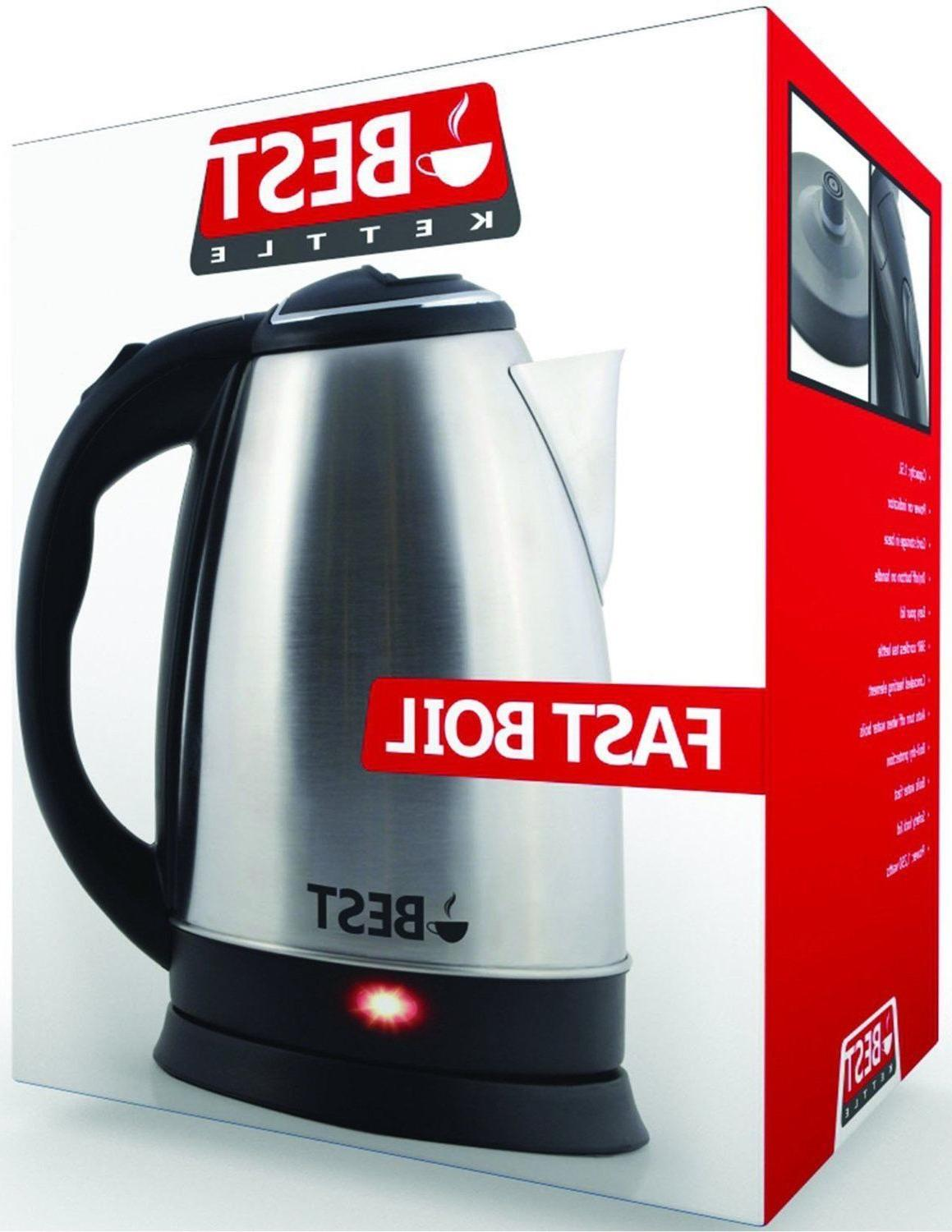Best Electric Tea Kettle  Cordless Serving  2.0L NEW