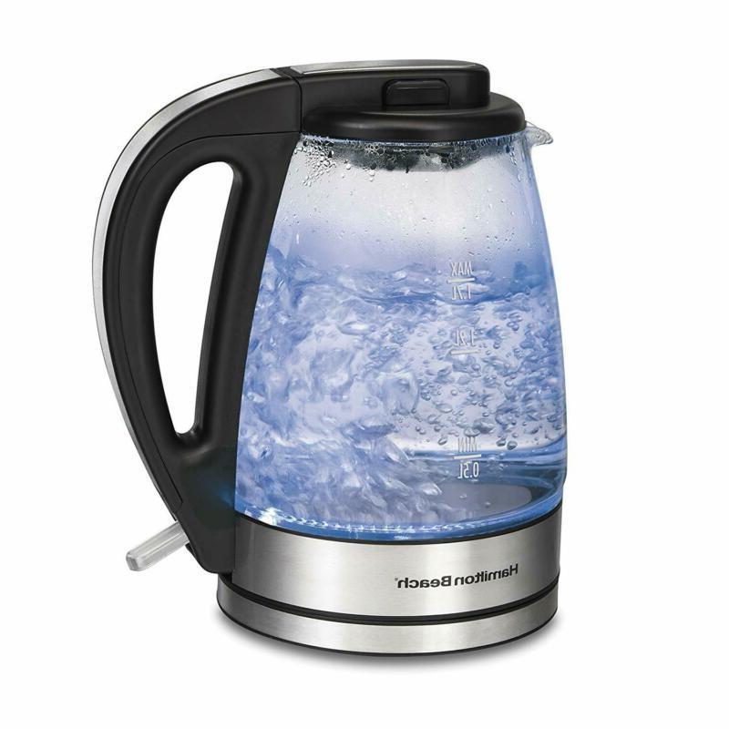 Hamilton Beach Electric Tea Kettle and Water Heater, 1.7 Lit