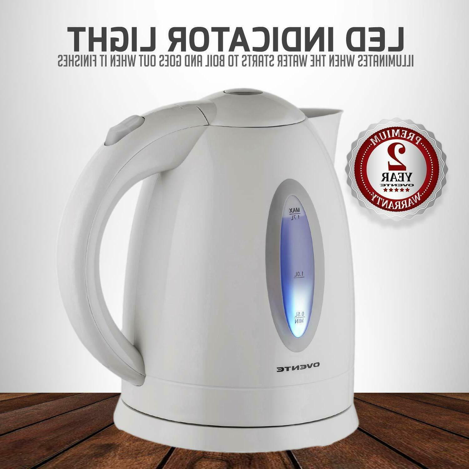 Electric Tea Water Plastic Cordless Fast